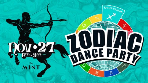 ZODIAC DANCE PARTY, Celebrating Sagittarians!