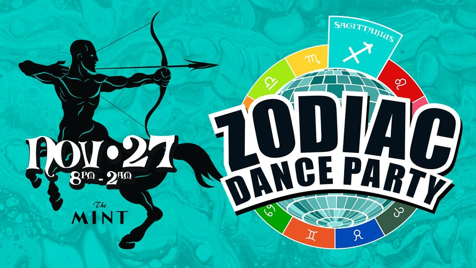 ZODIAC DANCE PARTY, Celebrating Sagittarians!