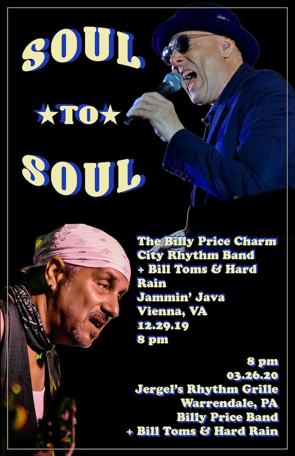 Billy Price Charm City Rhythm Band + Bill Toms and Hard Rain