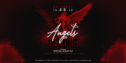Angels and Demons at Ainsworth Chelsea Halloween Party (Open Vodka Bar 9-10pm)