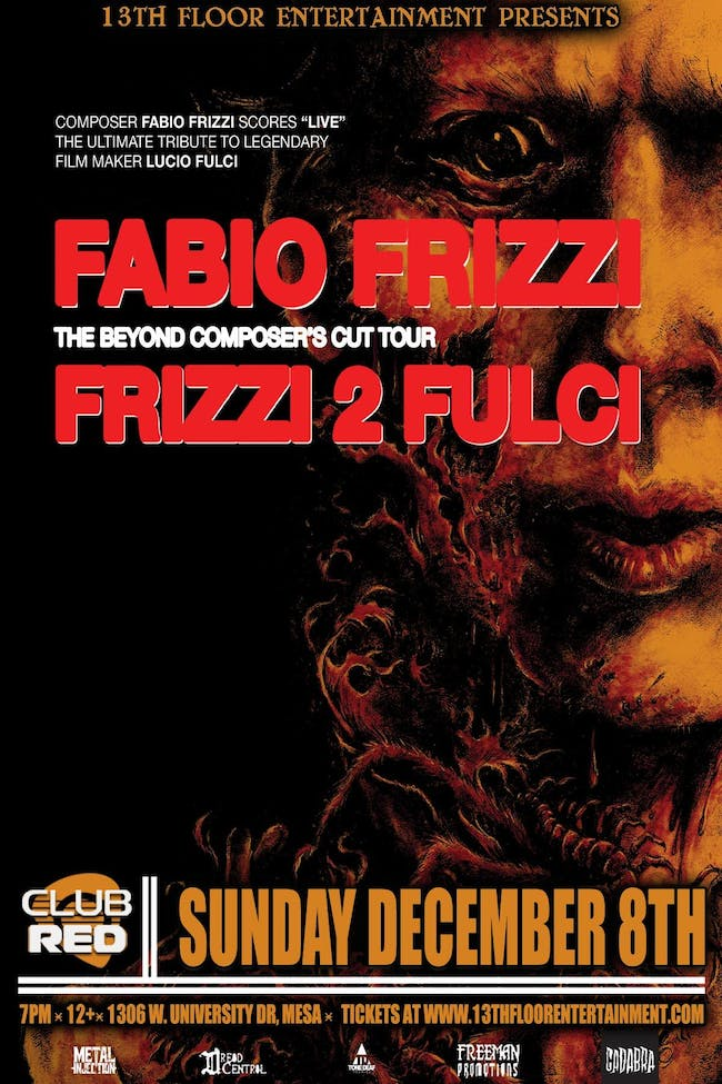 FABIO FRIZZI performing THE BEYOND and FRIZZI 2 FULCI