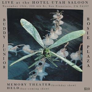 Buddy Junior, Rosie Plaza, Memory Theater, Held