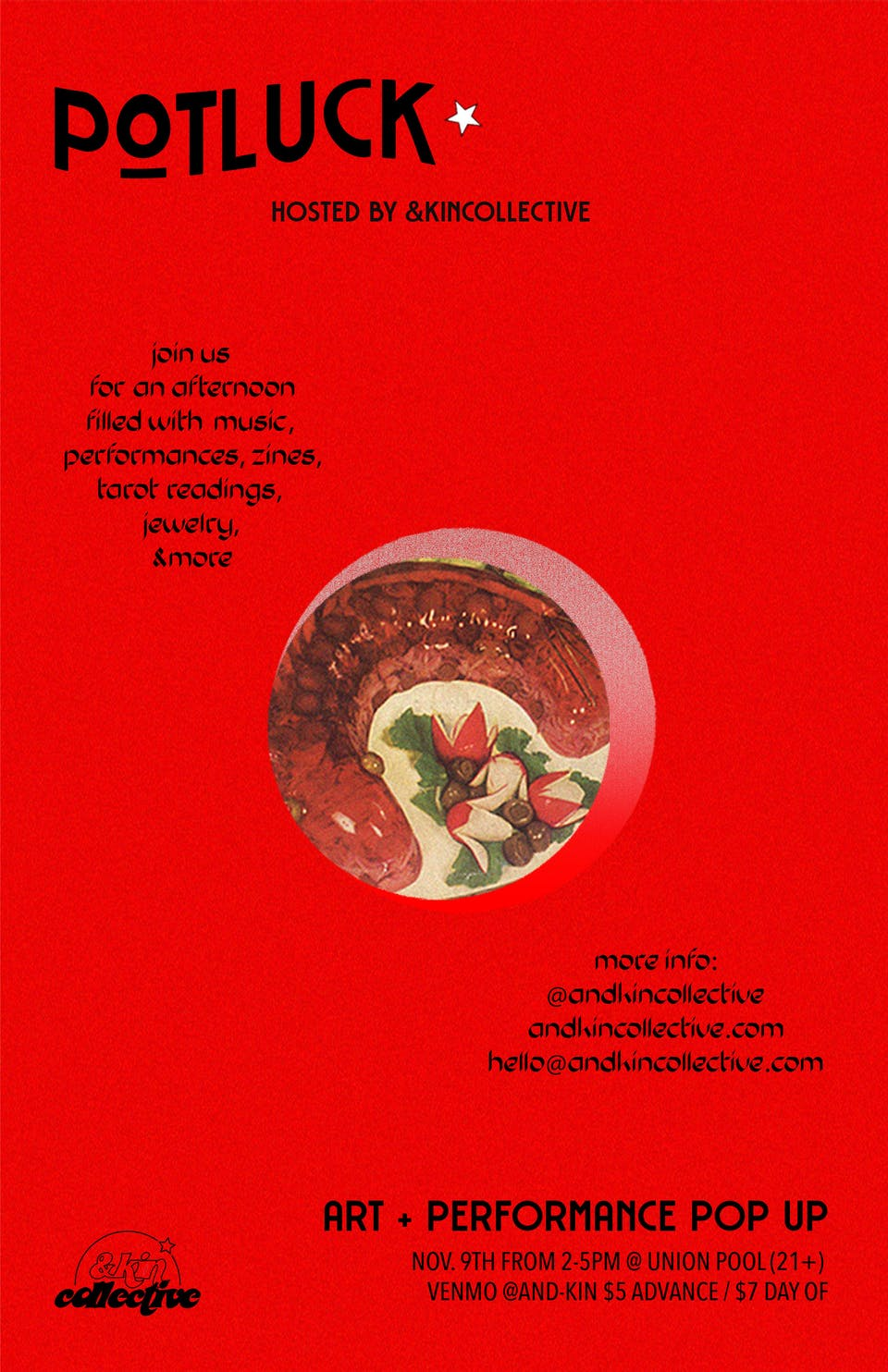 &Kin Collective Benefit Fundraiser: buni hate mail, Leah Lavigne, Murielle