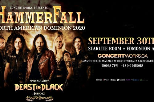 Hammerfall with Beast in Black & Edge of Paradise