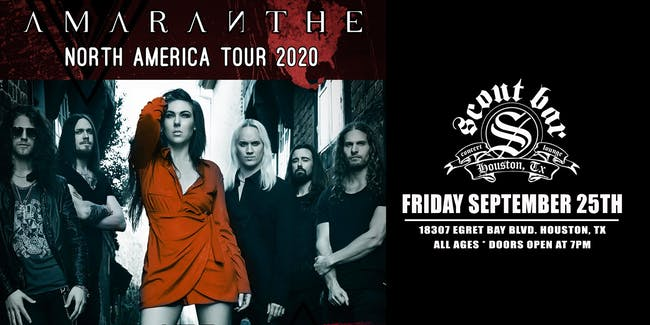 AMARANTHE - SHOW HAS BEEN POSTPONED - NEW DATE COMING SOON