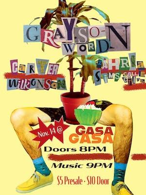 Grayson Word + Zahria Sims Collective + Carter Wilkinson