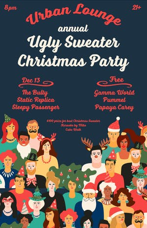 Urban Lounge Ugly Sweater Christmas Party