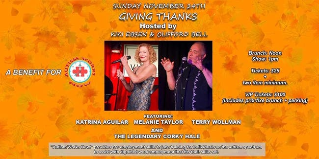 Giving Thanks hosted by Kiki Ebsen and Clifford Bell