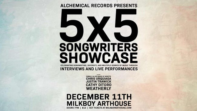 The 5x5 Songwriters Showcase: The Best of Washington DC Songwriting