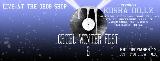 Cruel Winter Fest 6 ft. Kosha Dillz Music by SMPLGD  Hosted by BKA Watts