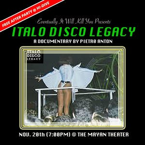 Italo Disco Legacy Screening After Party!