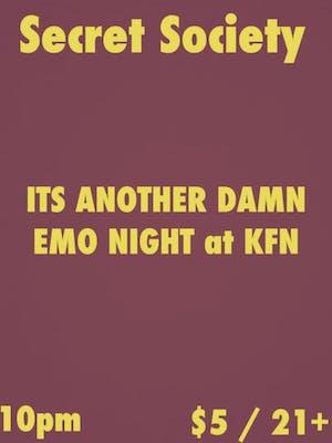 Secret Society - A KFN Emo Punk Night