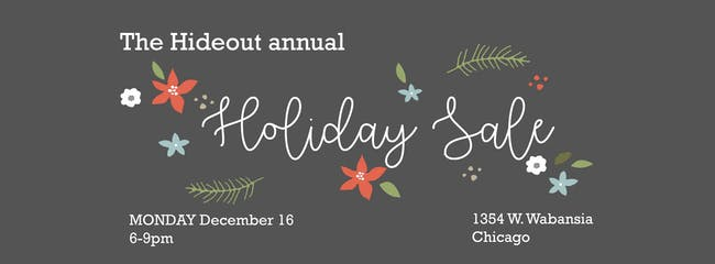 Hideout Annual Holiday Sale