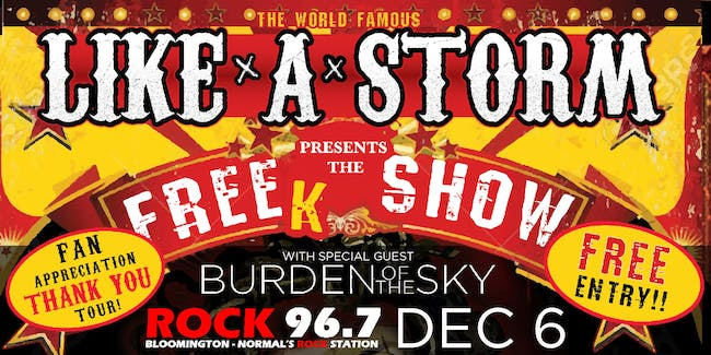 Holiday on the Rocks with Like A Storm