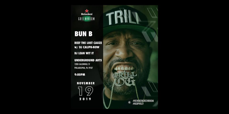 Heineken Green Room PHL ft. Bun B