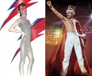 Queen vs Bowie 70's Dance Party