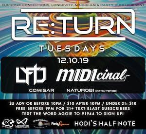 Re:Turn Tuesdays feat. Lyftd, MIDIcinal, Comisar, Naturobi