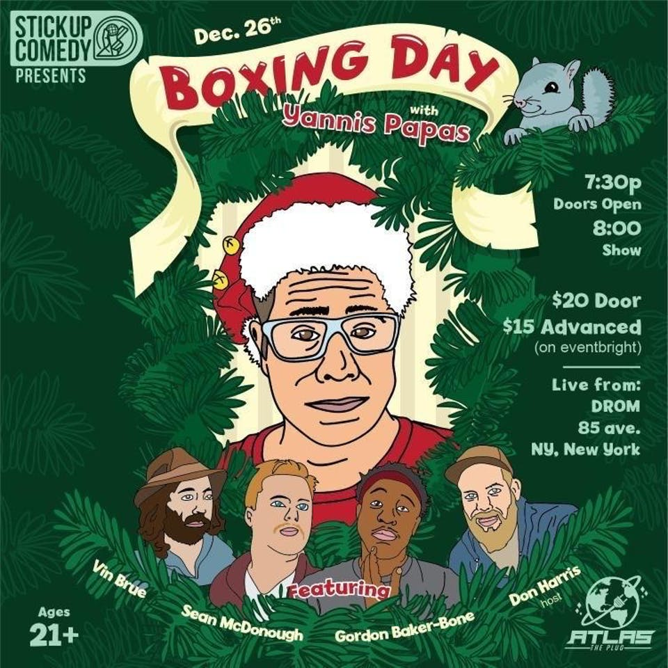 Boxing Day, Yannis Pappas Live