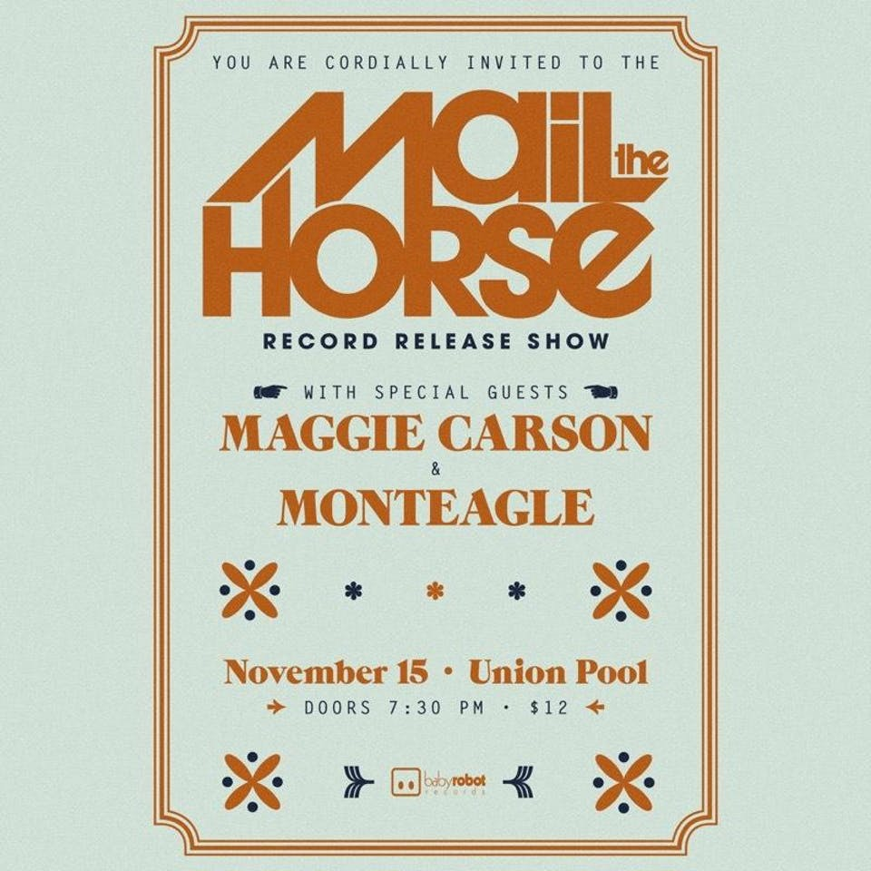 Mail The Horse *Record Release!* + Maggie Carson + Monteagle