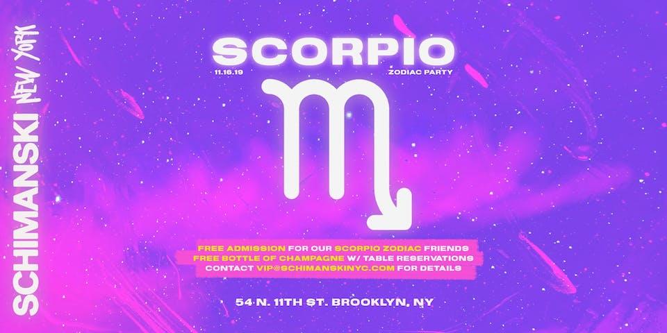 Zodiac Party: SCORPIO