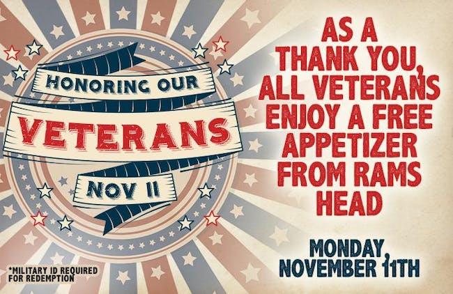 Free Appetizer for Veterans