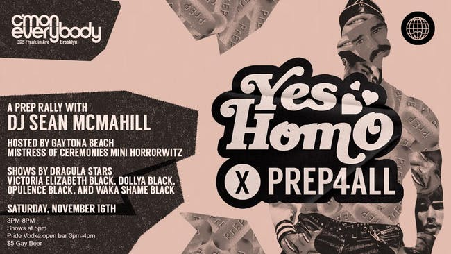 Yes Homo x PReP4All: PReP Rally!