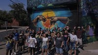 HEROES OF THE WORLD Jersey City Summer Youth Mural Arts Program 2019