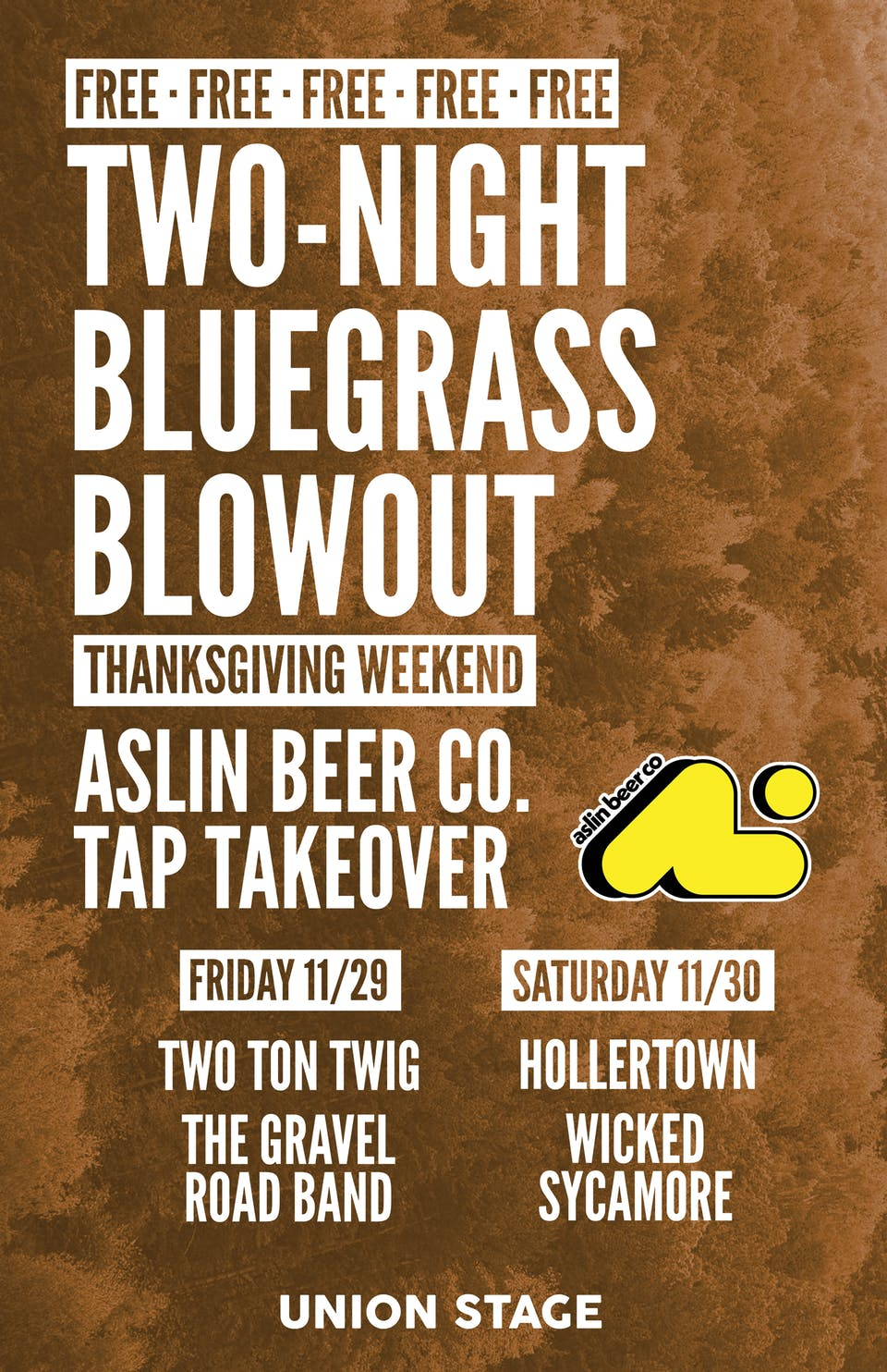 Free Bluegrass Blowout Night Two feat. Hollertown + Wicked Sycamore