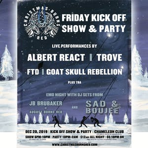 1st Annual Christmas Burns Red Festival Kick-Off Party & Show