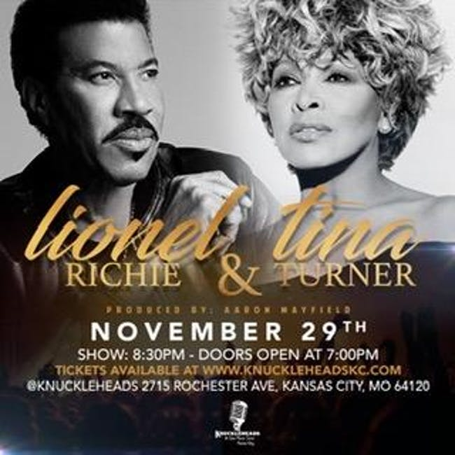 The Music of Lionel Richie & Tina Turner -  A Tribute by Aaron Mayfield