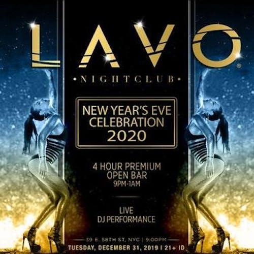 Lavo Nightclub New Year S Eve 2020 Party Tickets Lavo Nightclub New York Ny December 31st 2019 Aim Hospitality