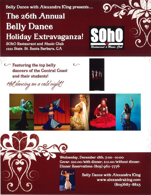 Hot Dancing on a Cold Night: 26th Annual Belly Dance Holiday Extravaganza!