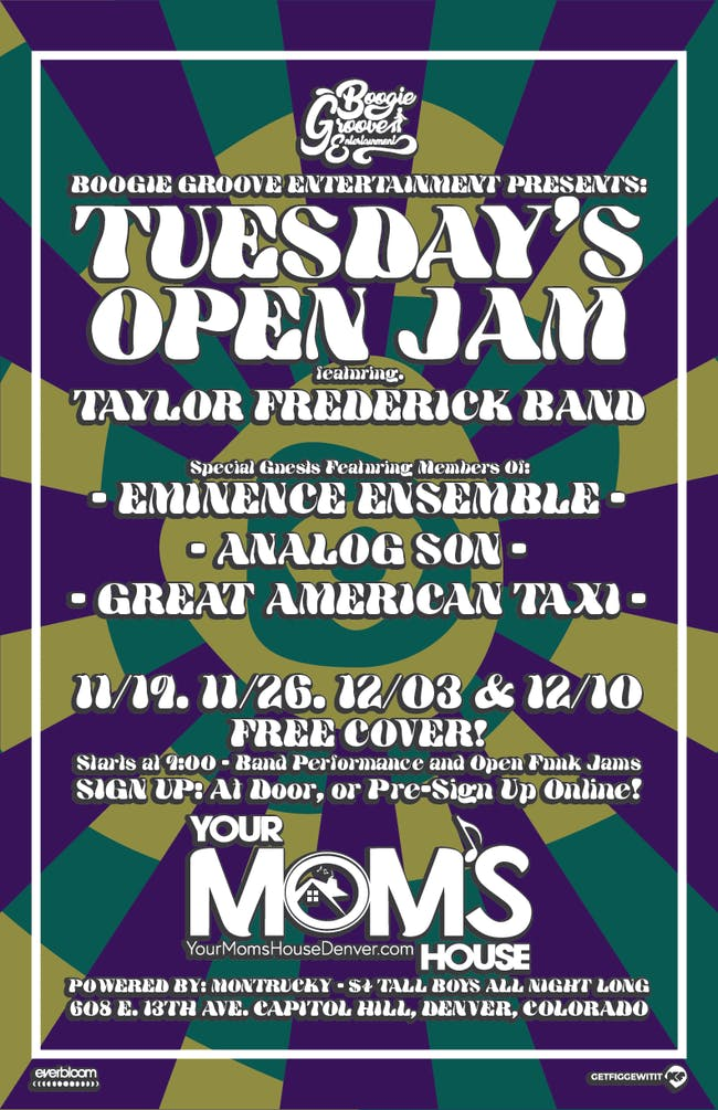 Tuesday's Open Jam ft. Taylor Frederick Band & Special Guests