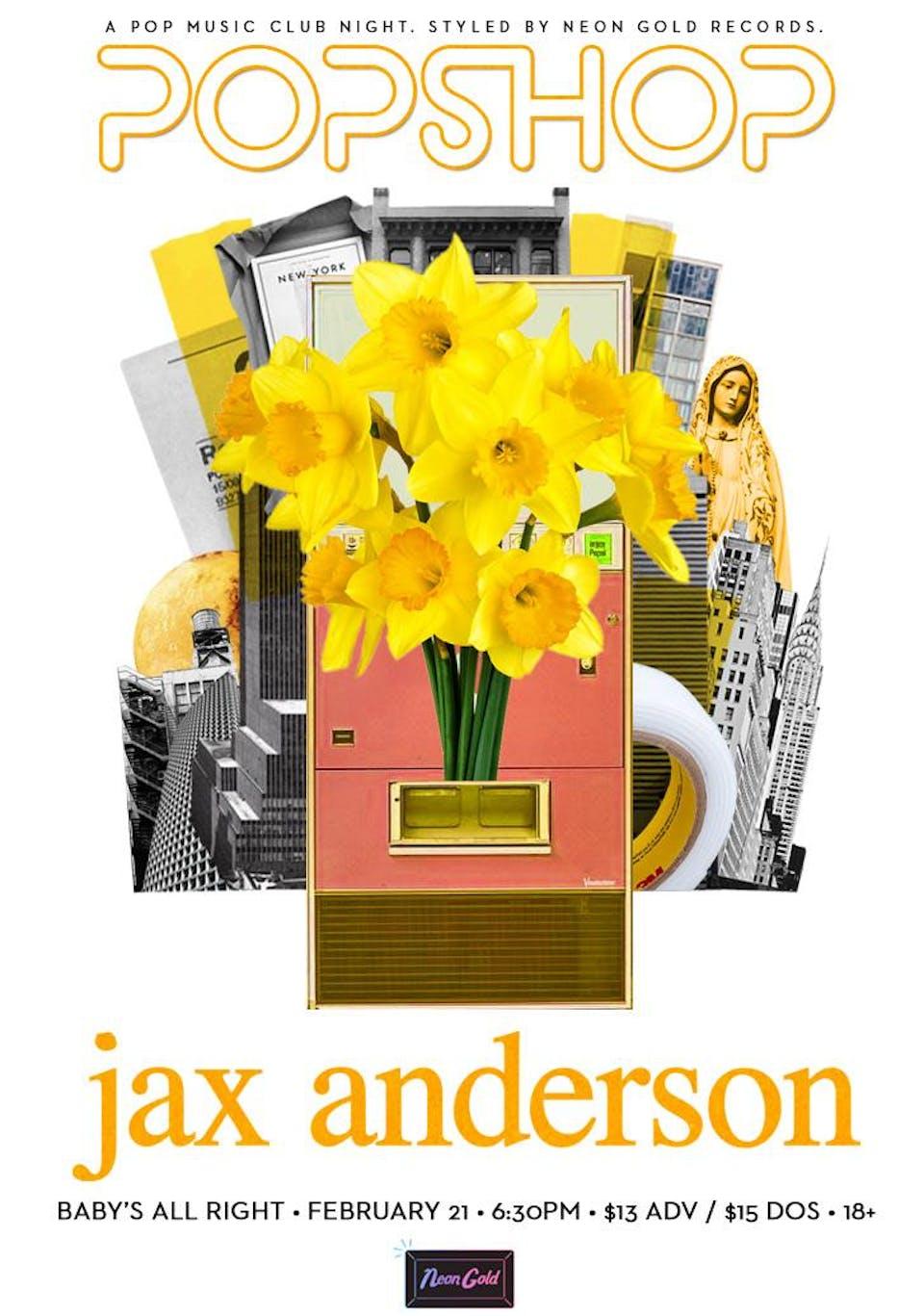 Popshop NYC: Jax Anderson with SAINTE