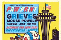 PAW PRINT: a benefit concert for Homeward Pet Adoption Center Feat: Grieves