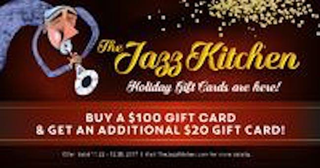 $100 Jazz Kitchen Gift Card w/  $20 Free