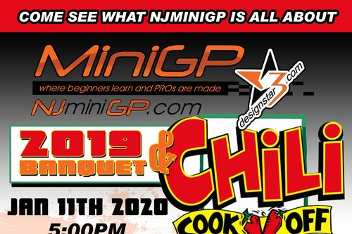 NJMiniGP 2019 Awards Banquet & Chili Cook-Off