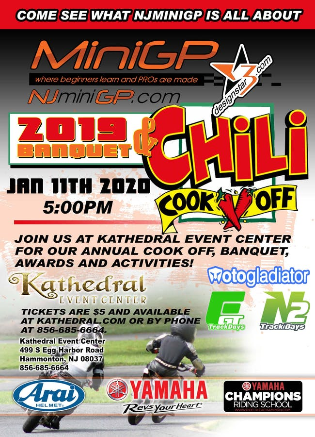 NJMiniGP 2019 Awards Banquet & Chili Cook-Off