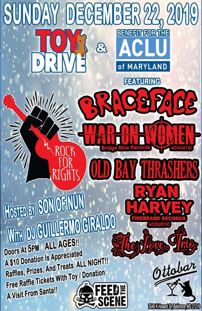 Toy Drive and Benefit for the ACLU of Maryland