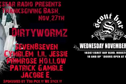 Punk Star Full Throttle Pre-Thanksgving Day Bash feat: Dirty Wormz and more