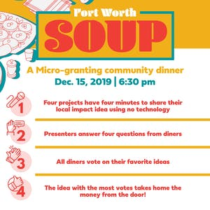 Fort Worth SOUP: A Micro-granting Community Dinner