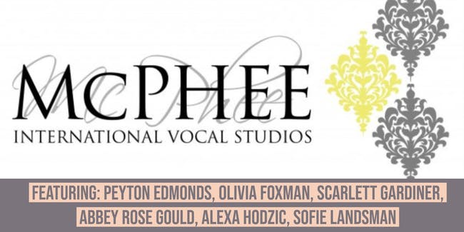 MCPHEE INTERNATIONAL VOCAL STUDIOS PRESENTS WINTER SHOWCASE