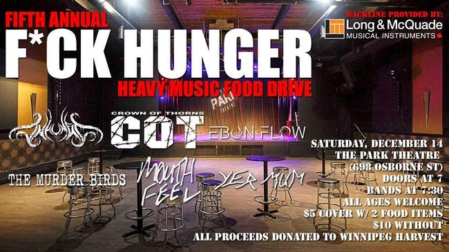 Fifth Annual F*ck Hunger Heavy Music Food Drive
