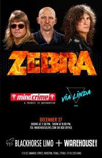 ZEBRA / VIA LINDA / MINDCRIME (TRIBUTE TO QUEENSRYCHE)