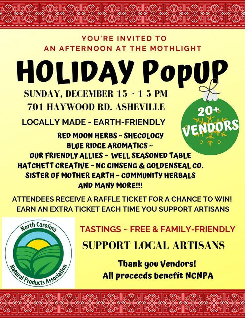 3rd Annual Natural Products Holiday PopUp