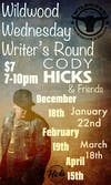 Cody Hicks Writer's Round