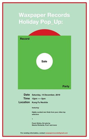Waxpaper Records Holiday Pop_Up