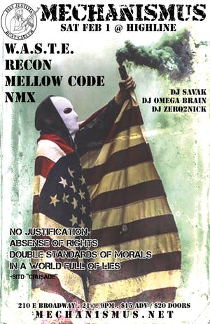 Mechanismus Presents: W.A.S.T.E. / RECON / MELLOW CODE / NMX