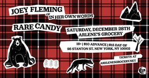 Joey Fleming (of In Her Own Words) and Rare Candy at Arlene's Grocery!