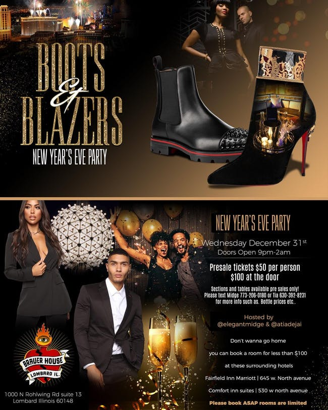 Boots and Blazers New Years Event at BHouse LIVE